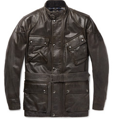 Belstaff - Panther Slim-Fit Belted Leather Jacket