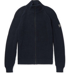 Belstaff - Parkgate Slim-Fit Ribbed-Cotton Zip-Up Cardigan