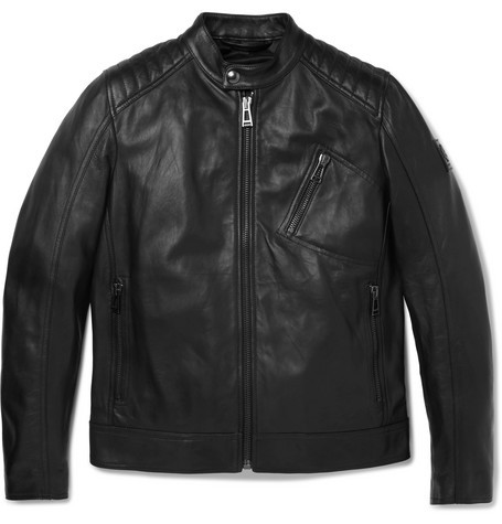 Belstaff V Racer Slim-fit Leather Jacket In Black