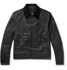 Belstaff Mentmore Slim-Fit Corduroy-Trimmed Waxed-Cotton Jacket