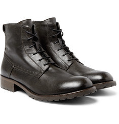 Belstaff - Alperton Burnished-Leather Boots
