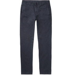 Massimo Alba - Winch Slim-Fit Cotton and Cashmere-Blend Trousers