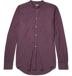 Massimo Alba Kos Grandad-Collar Modal and Cotton-Blend Twill Shirt