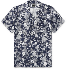 Todd Snyder Camp-Collar Floral-Print Linen Shirt