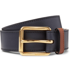 Burberry - 3.5cm Embossed Leather Belt