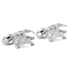Burberry - Checked Silver-Tone Cufflinks