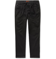 Barena Vettor Stino Tapered Pleated Stretch-Cotton Twill Trousers