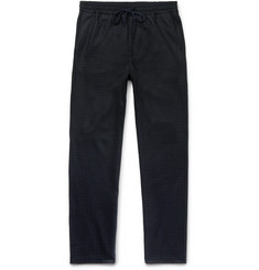 Barena Tapered Checked Wool and Nylon-Blend Drawstring Trousers