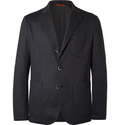 Barena Blue Unstructured Cotton-Blend Piqué Blazer