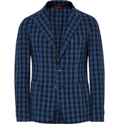 Barena Buffalo Checked Cotton Blazer