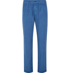 Barena - Slim-Fit Pleated Linen Trousers