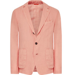 Barena Peach Slim-Fit Unstructured Linen Blazer