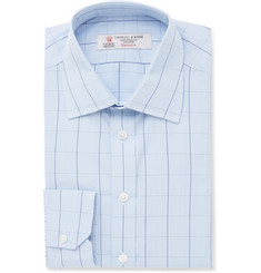 Turnbull & Asser Blue Slim-Fit Prince of Wales Checked Cotton Shirt