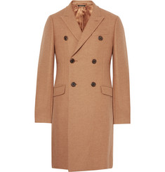 Prada Double-Breasted Camel Hair-Blend Coat