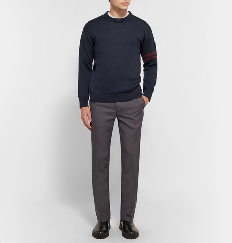 Ribbed Virgin Wool Sweater by Prada