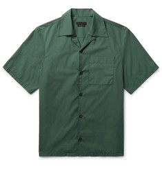 Prada Camp-Collar Cotton-Poplin Shirt