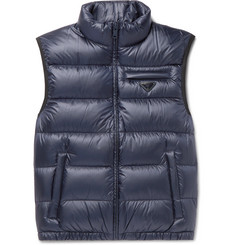 Prada Slim-Fit Quilted Shell Down Gilet