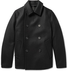 Prada Double-Breasted Padded Virgin Wool Peacoat