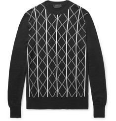 Prada Intarsia Virgin Wool Sweater