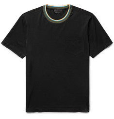 Prada Contrast-Trimmed Stretch-Cotton Jersey T-Shirt