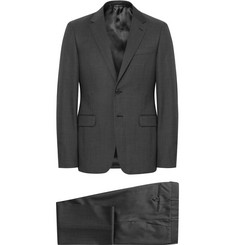 Prada Charcoal Slim-Fit Pin-Dot Virgin Wool Suit