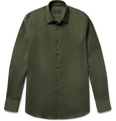 Prada Slim-Fit Stretch Cotton-Blend Shirt