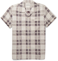 Outerknown Camp-Collar Checked Organic-Cotton Shirt