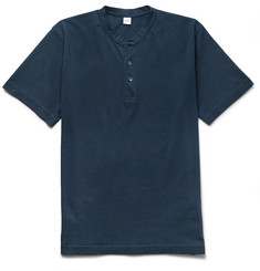 Aspesi Slim-Fit Cotton-Jersey Henley T-Shirt