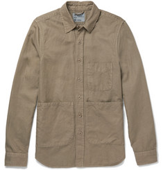 Aspesi Slim-Fit Cotton and Linen-Blend Twill Overshirt