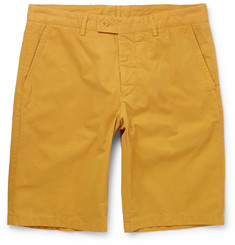 Aspesi Washed Cotton-Twill Shorts