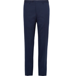 Canali - Blue Stretch-Wool Suit Trousers