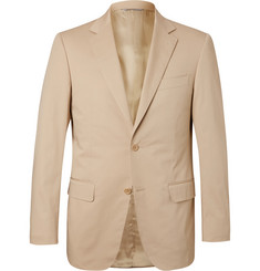 Canali Beige Sienna Stretch-Cotton Twill Blazer