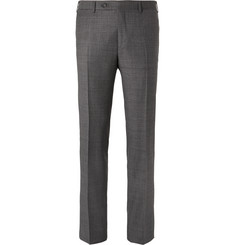 Canali Grey Venezia Slim-Fit Super 130s Wool-Sharkskin Suit Trousers