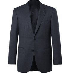 Canali Blue Sienna Slim-Fit End-on-End Wool and Silk-Blend Suit Jacket