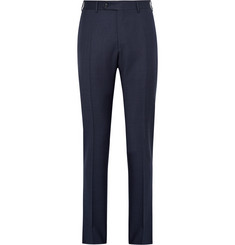 Canali - Blue Venezia Slim-Fit Puppytooth Wool Suit Trousers