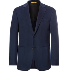 Canali Blue Kei Slim-Fit Unstructured Cashmere Blazer