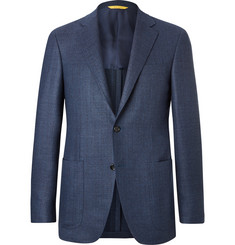 Canali Blue Kei Slim-Fit Unstructured Wool Blazer