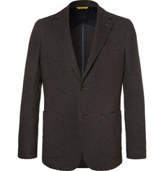 Canali - Brown Unstructured Wool and Cotton-Blend Blazer