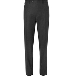 Canali Grey Slim-Fit Super 120s Wool-Flannel Trousers