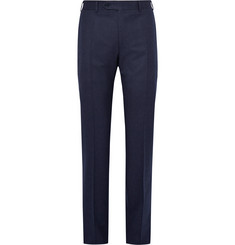Canali Blue Super 120s Wool-Flannel Trousers
