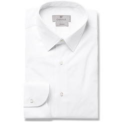 Canali - White Slim-Fit Stretch Cotton-Blend Shirt