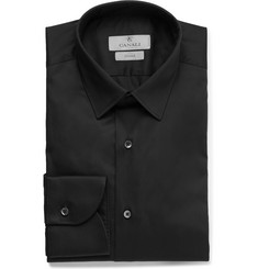 Canali - Black Slim-Fit Stretch Cotton-Blend Shirt