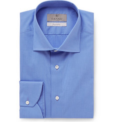 Canali - Blue Slim-Fit End-on-End Cotton Shirt