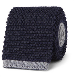 Canali - 8cm Two-Tone Knitted Wool Tie