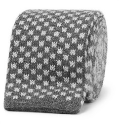 Canali - 8cm Knitted Silk and Cashmere Tie