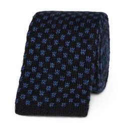 Canali - 6cm Knitted Silk and Cashmere-Blend Tie