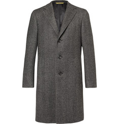Canali Kei Slim-Fit Unstructured Herringbone Wool Coat