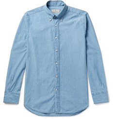Canali Button-Down Collar Denim Shirt