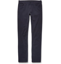 Canali - Slim-Fit Stretch-Cotton Twill Trousers