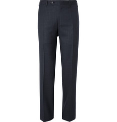Canali Blue Sienna Slim-Fit End-on-End Wool and Silk-Blend Suit Trousers